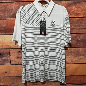 NWT Ogio Golf Polo Shirt Size L | Striped $60 MSRP
